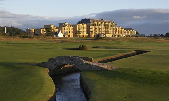 Old Course Hotel Airport Transfers and Swilcan bridge